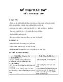 Kế hoạch bài dạy Chủ nhiệm lớp 2: Sinh hoạt lớp