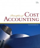 Ebook Principles of cost accounting (15th edition): Part 1