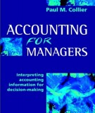 Ebook Accounting for managers: Interpreting accounting information for decision-making: Part 1