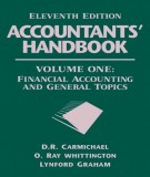 accountants handbook (volume one: eleventh edition financial accounting and general topics): part 1