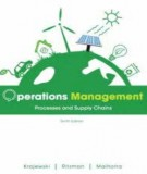 Ebook Operations management - Processes and supply chains (10th edition): Part 2