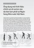 Ứng dụng mô hình hiệu chỉnh sai số vector vào dự báo lạm phát tại Ngân hàng Nhà nước Việt Nam