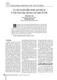 Cơ chế truyền dẫn chính sách tiền tệ ở Việt Nam tiếp cận theo mô hình SVAR