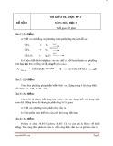 Đề kiểm tra học kỳ 2 môn Hóa học 9 (có đáp án)