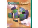 Lecture Business and society - Chapter 15: Sustainability and The Natural Environment