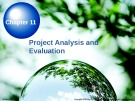 Lecture Chapter 11: Project Analysis and Evaluation