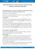 Giải bài tập Môi trường và tài nguyên thiên nhiên SGK Địa lí 10