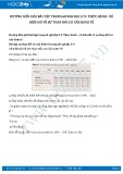 Giải bài tập Thực hành - vẽ biểu đồ về sự thay đổi cơ cấu kinh tế SGK Địa lí 9