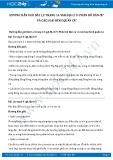 Giải bài tập Phân bố dân cư và các loại hình quần cư SGK Địa lí 9