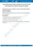 Giải bài tập Các nhân tố ảnh hưởng đến sự phát triển và phân bố nông nghiệp SGK Địa lí 9