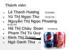 Đề tài: Cuộc chiến giữa Coca cola và Pepsi