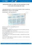 Giải bài tập Địa lí các ngành công nghiệp (tiếp theo) SGK Địa lí 10