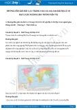Giải bài tập Địa lí các ngành giao thông vận tải SGK Địa lí 10