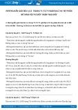Giải bài tập Sự phân bố sinh vật và đất trên trái đất SGK Địa lí 10
