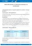 Giải bài tập Cơ cấu dân số SGK Địa lí 10
