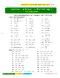 Bài tập Toán 9 chương 1: Căn bậc 2 - Căn thức bậc 2
