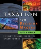 Ebook Taxation for decision makers (2012 edition): Part 1