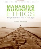 Ebook Managing business ethics (5th edition): Part 1