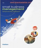 Ebook Small business management - Entrepreneurship and beyond (5th edition): Part 2