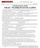 Hóa học 12 chương 1: Trắc nghiệm este - lipit