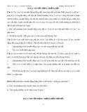 Bài tập Vật lý 10 bài 2 và bài 3