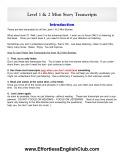 Mini Story Transcripts - Effortless English
