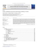 Surface modification by electrical discharge machining A review