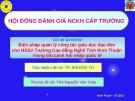 Đề tài: Biện pháp quản lý công tác giáo dục đạo đức cho HSSV Trường Cao đẳng Nghề Tỉnh Ninh Thuận trong bối cảnh hội nhập quốc tế - TS. Bùi Đức Tú