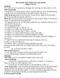 Một số kiến thức Tiếng Việt 5 cần ghi nhớ