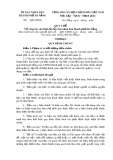 Quy chế Về công tác văn thư của Ủy ban nhân dân thành phố Đà Nẵng