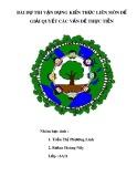 Bài dự thi Vận dụng kiến thức liên môn để giải quyết các vấn đề thực tiễn: Bảo vệ môi trường