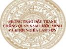 Phong trào đấu tranh chống quân xâm lược Minh và khởi nghĩa Lam Sơn