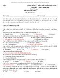 Đề thi thử THPT Quốc gia môn Hóa học (có đáp án)