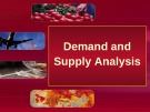 Lecture Element of economics - Chapter 2: Demand and supply analysis