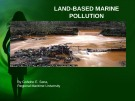 Lecture Marine environmental studies - Topic: Land-based marine pollution