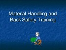 Lecturte Logistics management - Chapter: Material handling and back safety training
