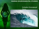 Lecture Marine environmental studies - Topic: Introduction