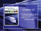 Lecture Managerial accounting: Creating value in a dynamic business environment (9/e): Chapter 11 - Ronald W. Hilton