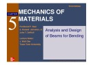 Lecture Mechanics of materials (Third edition) - Chapter 5: Analysis and design of beams for bending