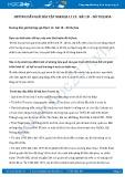 Giải bài tập Đô thị hóa SGK Địa lí 12