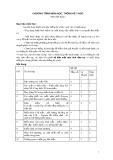 Chương trình môn học Thống kê y học