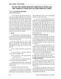 Về các tiêu chuẩn khảo sát đánh giá và phân loại tình trạng kỹ thuật nhà và công trình xây dựng