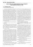 Ảnh hưởng của tham số đến độ tin cậy phần tử của khung bê tông cốt thép