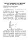 Tính chất cơ học của bê tông geopolymer sử dụng tro bay gia cường sợi poly-propylene