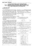 Về một số kết quả bất thường trong tính toán độ lún của cọc đơn theo phương pháp của tiêu chuẩn thiết kế móng cọc