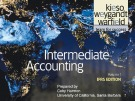 Lecture Intermediate accounting (Volume 1, IFRS edition): Chapter 3 - Kieso, Weygandt, Warfield