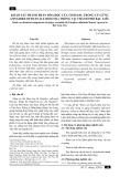 Khảo sát thành phần hóa học của tinh dầu trong củ gừng (zingiber officinale roscoe.) trồng tại thành phố Bạc Liêu