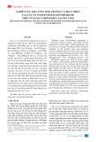 Nghiên cứu khả năng sinh trưởng và phát triển của cây cỏ voi (pennisetum purpureum) trên vùng đất nhiễm phèn tại Trà Vinh