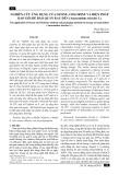 Nghiên cứu ứng dụng của ozone, chlorine và biện pháp bao gói để bảo quản rau dền (amaranthus tricolor L)