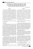 Tính tích cực trong hoạt động tự học của sinh viên trường Đại học Trà Vinh